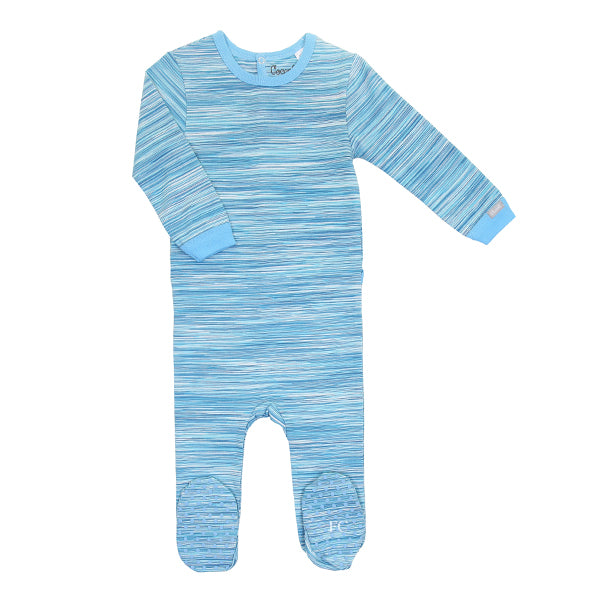 Alaskan Blue Space Dye Footie by Coccoli