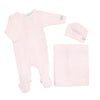 Champagne Pointelle Footie Set by Coccoli