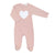 Pink Silver Hearts Footie by Chant De Joie
