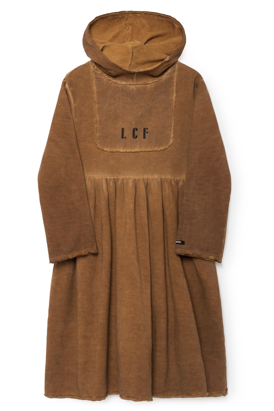 Rusty Hooded Stretchy Dress by Little Creative Factory