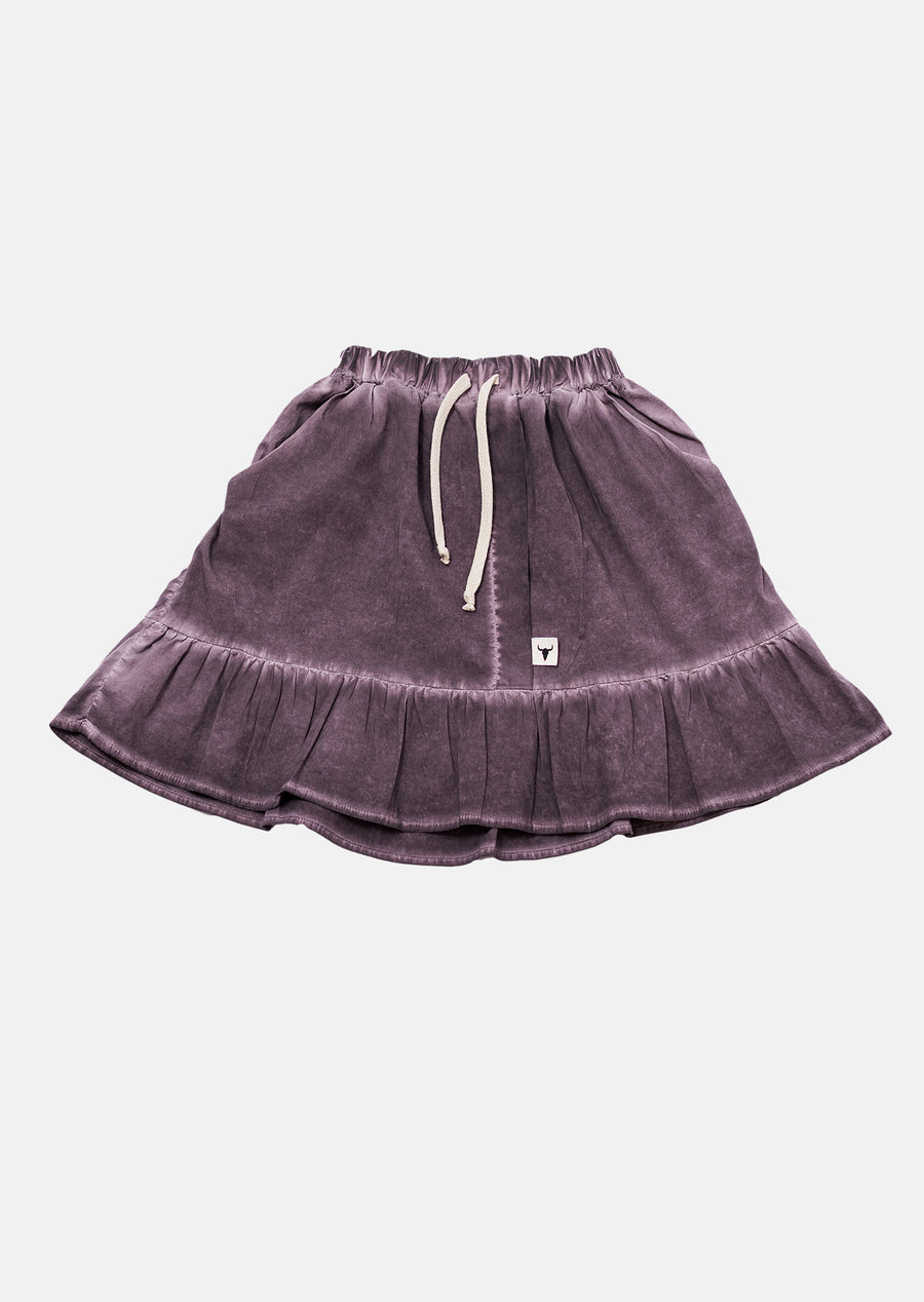 Aubergine Cold Dye Skirt by Booso