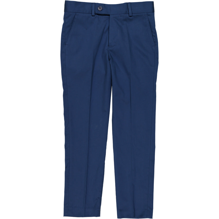 Indigo Cotton Sateen Slim Pants By Nove