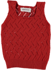 Red Fretwork Top by Tocon
