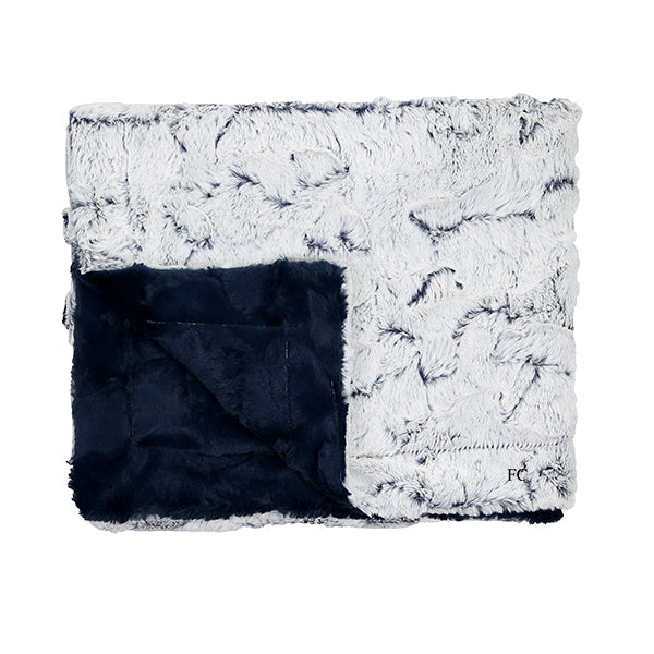 Milo Navy Blanket by Zandino