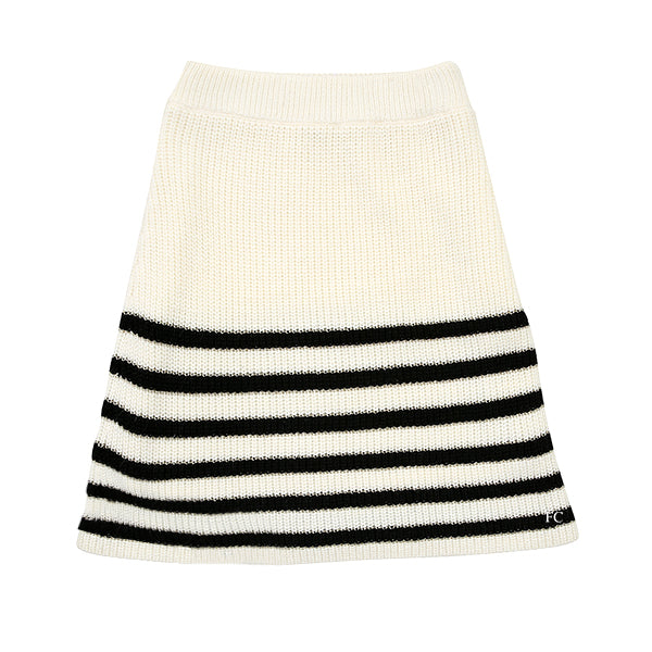 Black Striped Ivory Skirt by Paisley