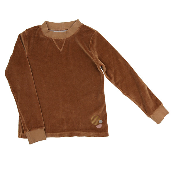 Camel Velour Sweatshirt by Essence