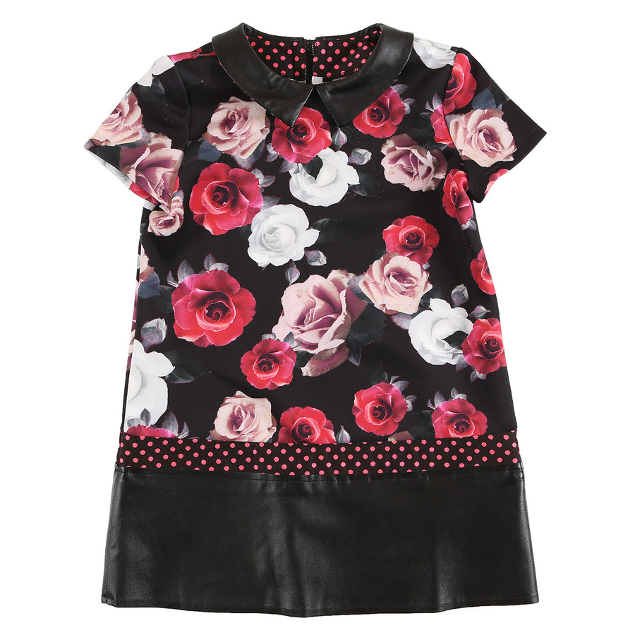 Black Floral Dress by Loredana - Flying Colors Baby
