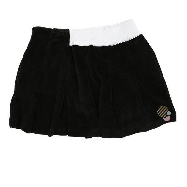 Velvet Skirt with White Band Detail by Infantium Victoria