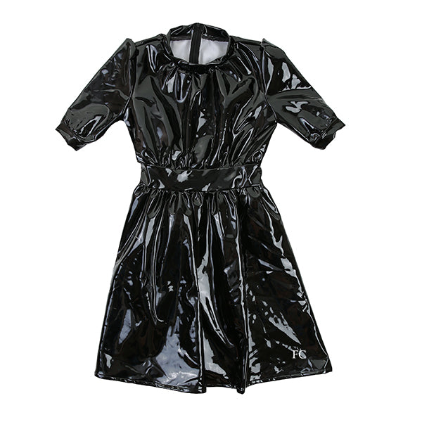 Vinyl Black Dress by Once Upon A Teen