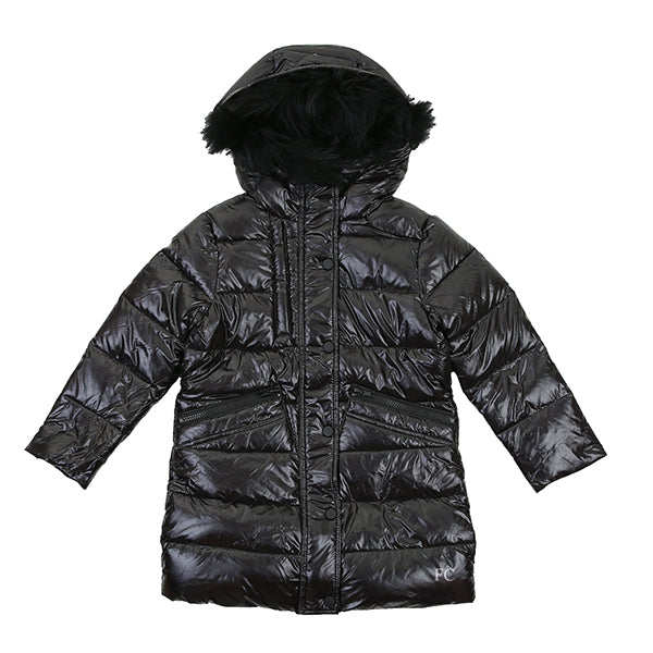 Long Shiny Down Puffer Coat by Eutropic