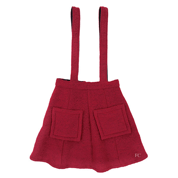 Red Wooly Skirt by Christina Rohde