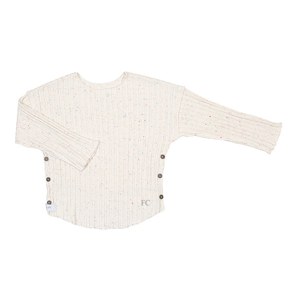 Speckled Ribbed Pierre Top by Gaya Lab