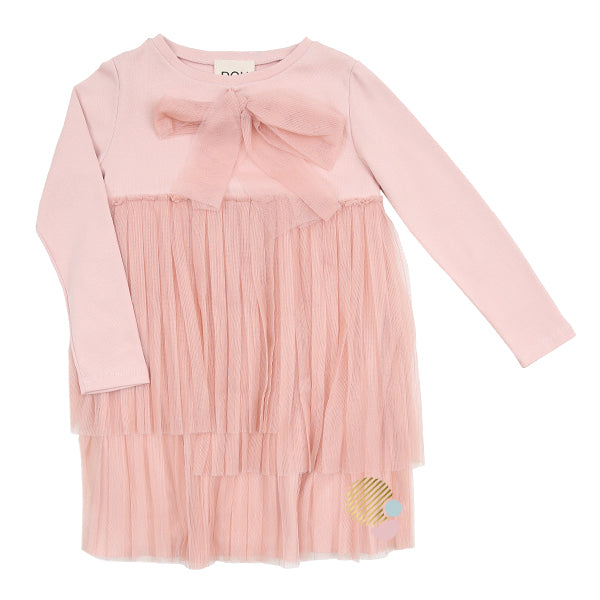 Tulle Ruffled Light Pink Dress by DOU DOU