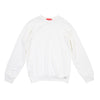 White Raw Trim Sweatshirt by TLB