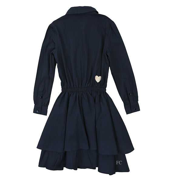 By Michelle Tiered Navy Dress