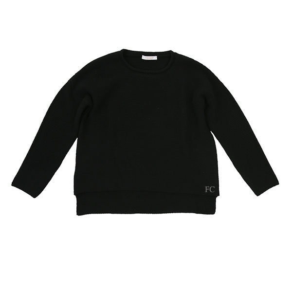 Knit Black Sweater by Via Elisa