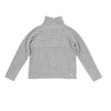 Grey Ribbed Turtleneck by Via Elisa