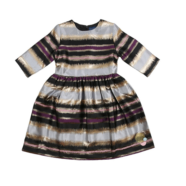 Metallic Stripe Dress by To-La-Roo