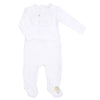 Bib White Footie by Mio Cotton