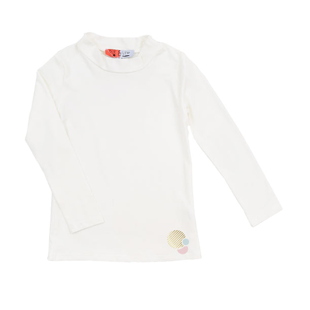 Cream Soft Turtleneck by Dot & Line