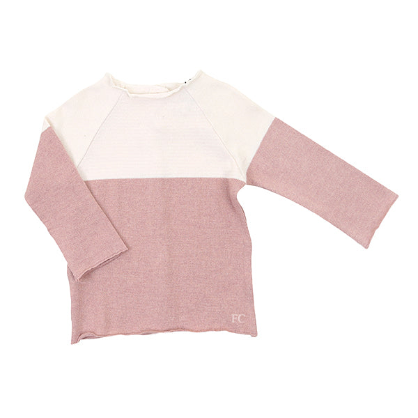 Pink Two Tone Top by Pequeno Tocon