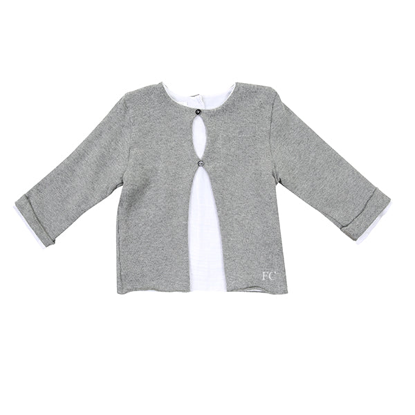 Grey Overlay Top by Pequeno Tocon