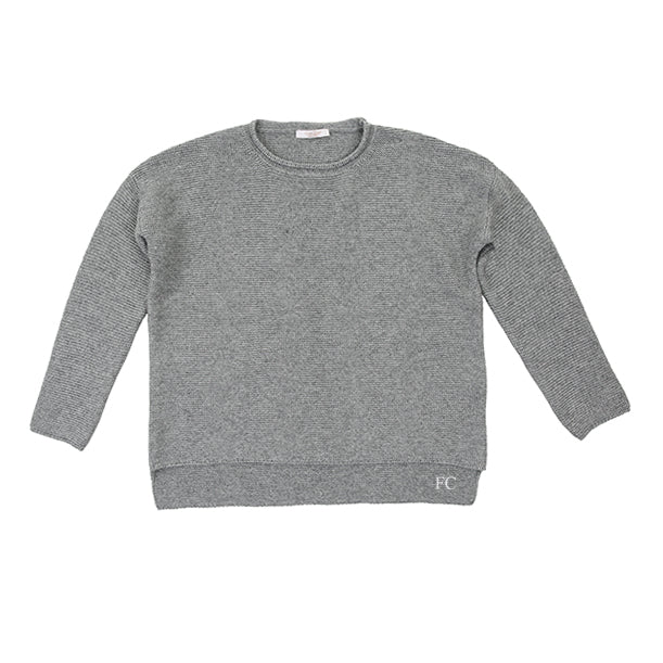 Knit Grey Sweater by Via Elisa