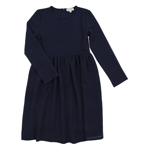 Blue Waffle Textured Dress By Michelle