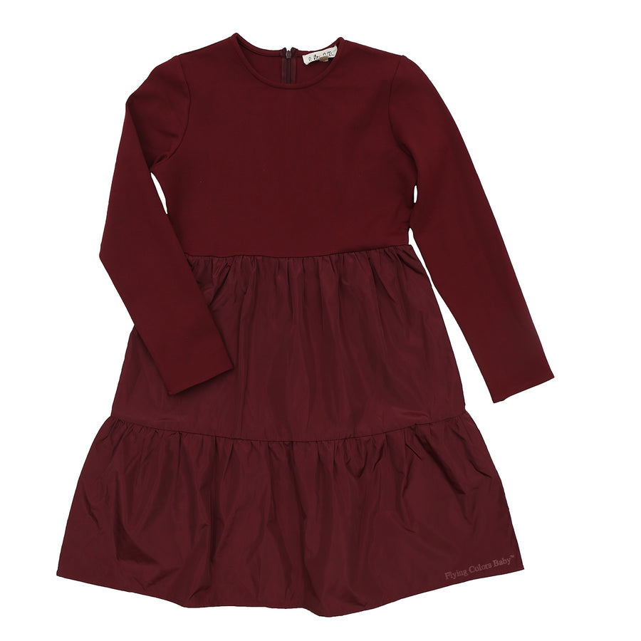 Cranberry Tiered Dress By Michelle - Flying Colors Baby