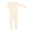 Beige Organic Footie by L'ovedbaby