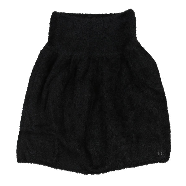 Fluffy Knit Black Skirt by Ustabelle