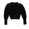 Fluffy Knit Black Top by Ustabelle