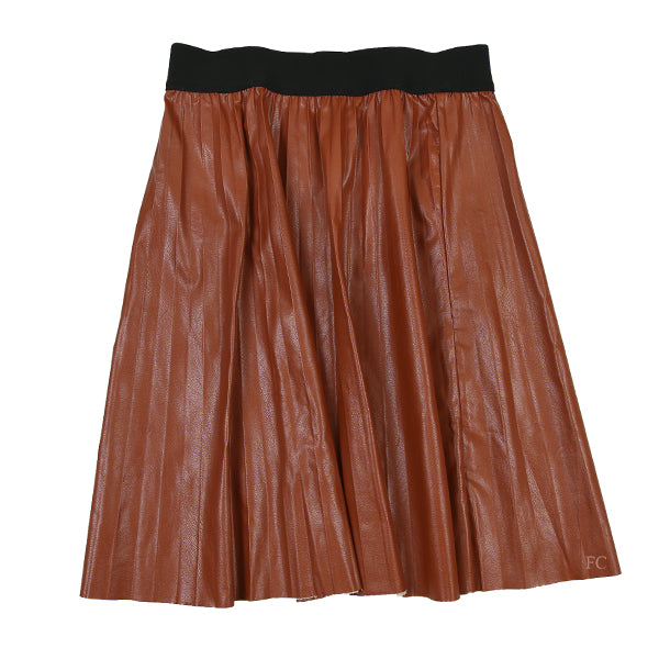 Luggage Pleather Skirt by Paisley
