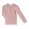 Pink Rib Button Sweater by Pequeno Tocon