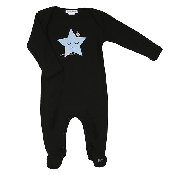Little Prince Star Footie by Coton Pompom
