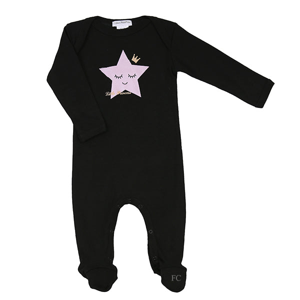 Little Princess Star Footie by Coton Pompom