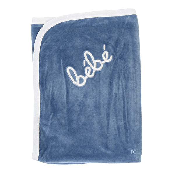 Steel Blue Bebe Blanket by Coton Pompom