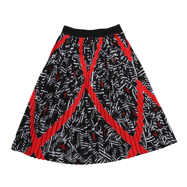 Long Crepe De Chine Skirt by MSGM