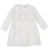 Ivory Girl Dress With Front Ruffles by Il Gufo