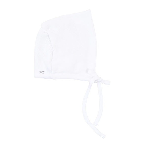 White Classic Bonnet by Mio Cotton