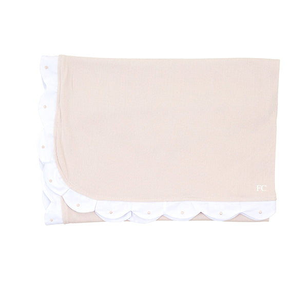 Scalloped Blush Blanket by Mio Cotton