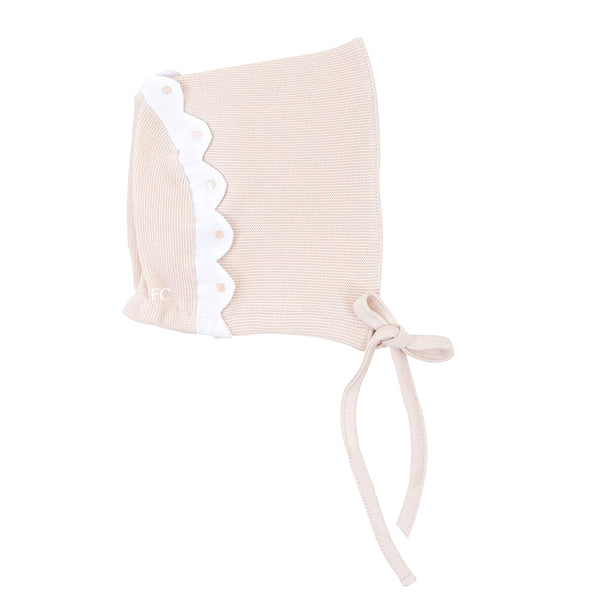 Scallop Trim Bonnet by Mio Cotton