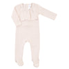 Blush Ruffle Footie by Mio Cotton