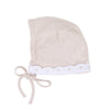 Blush Scallop Bonnet by Mio Cotton