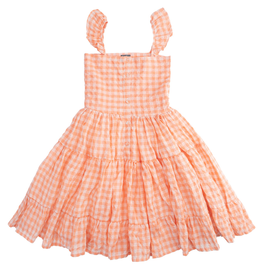 Checkered Pink Dress by Tocoto Vintage
