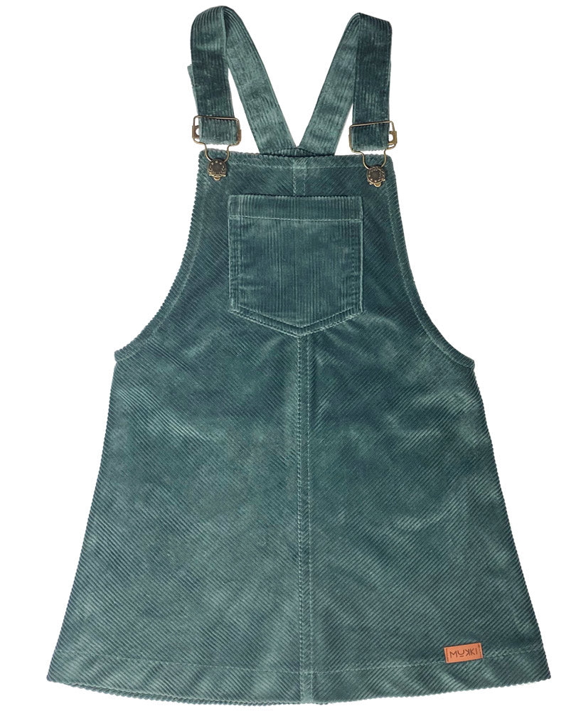Teal Corduroy Dress by Mukki Kids