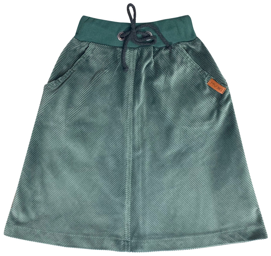 Teal Corduroy Skirt by Mukki Kids