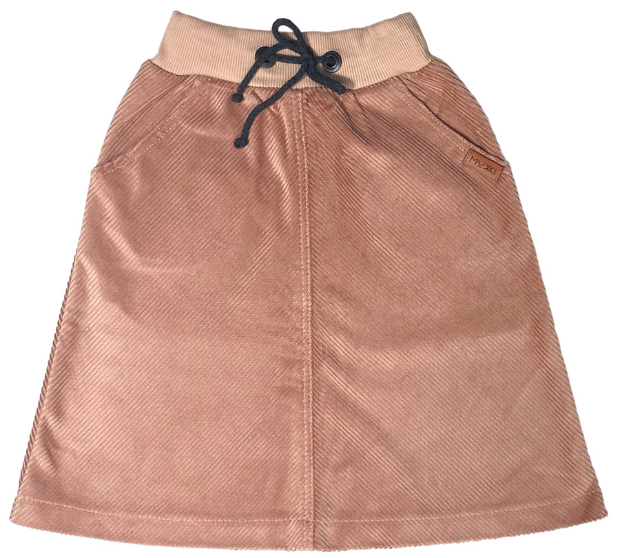 Salmon Corduroy Skirt by Mukki Kids