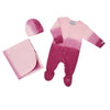 Pink Dip Dye Footie Blanket and Cap Set by Coccoli