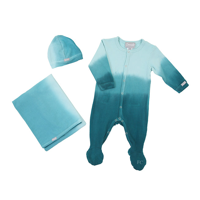 Hydro Dip Dye Footie Blanket and Cap Set by Coccoli